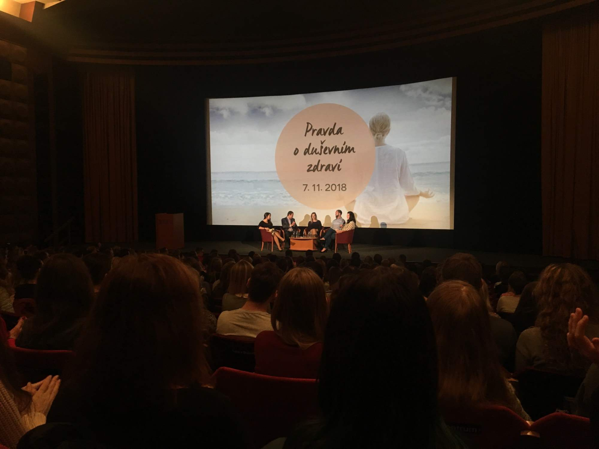 Na prednáške Pravda o duševním zdraví diskutovali odborníci z oblasti psychológie a psychiatrie o rizikách dnešnej doby. Foto: Kristína Marcinková