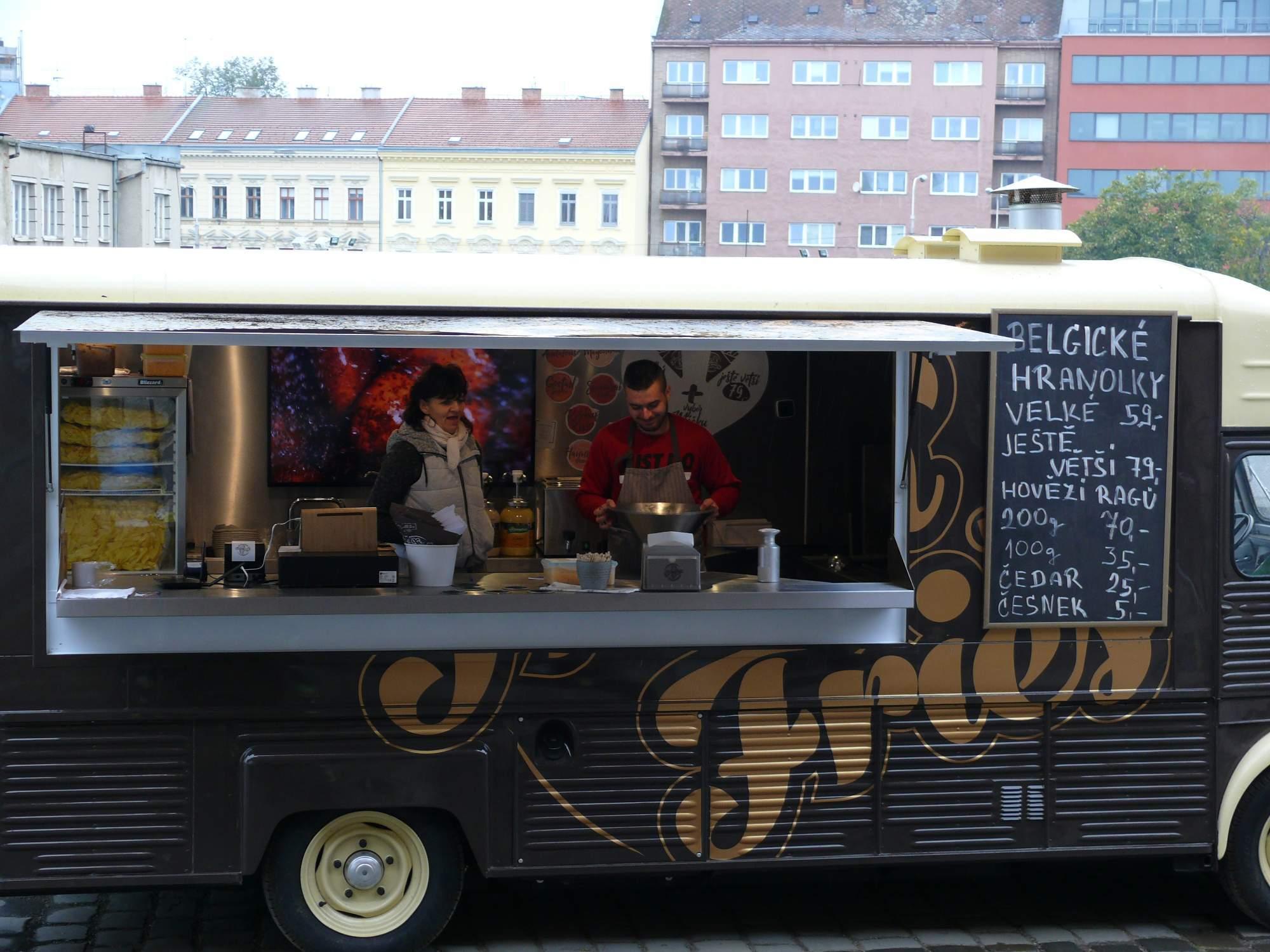 Foodtruck s belgickými hranolkami. Foto: Kristína Marcinková