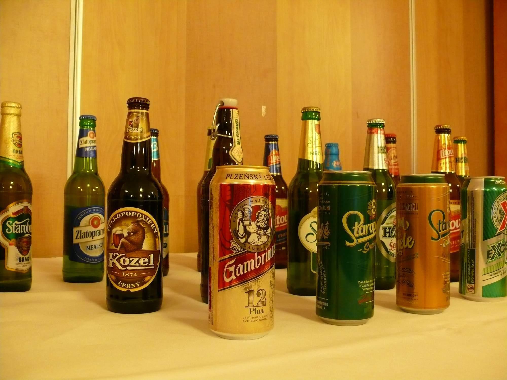 Do súťaže pivex sa zapojilo 50 rôznych druhov piva. Foto: Kristína Marcinková