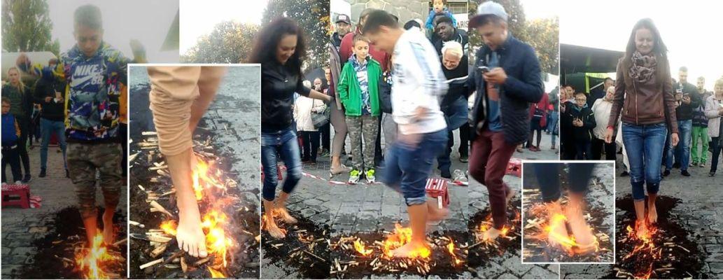 STREET FIREWALKING - pro festivaly s nedostatkem místa a neomezeným počtem návštěvníků www.chuzepoohni.cz - Chilli fest Praha 2018 - Firewalking - chůze po žhavém uhlí, flamewalking, street firewalking.