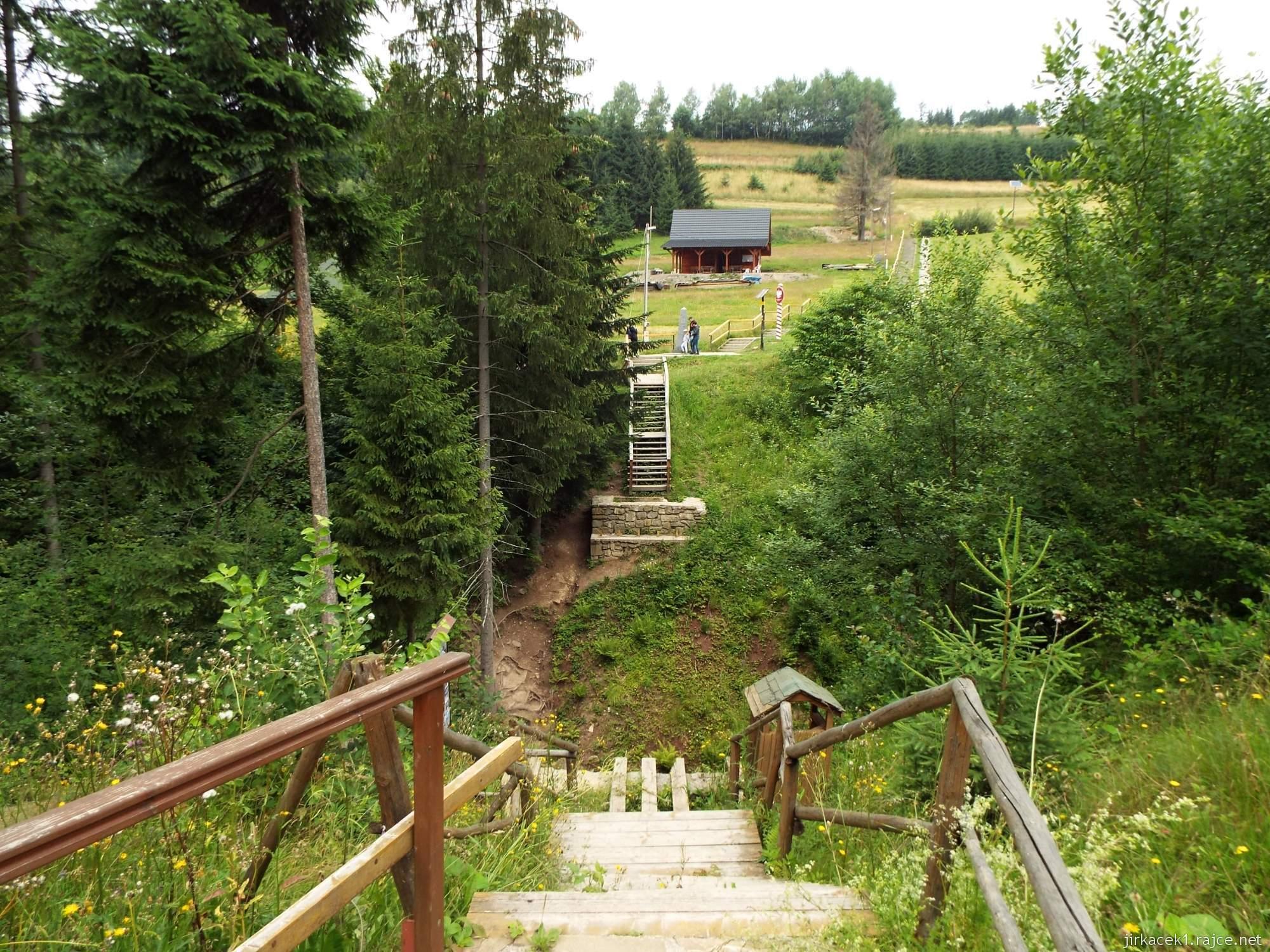 Trojmezí CZ-PL-SK - 55 - Trojmezí - pohled z SK přes potok na CZ a PL vpravo