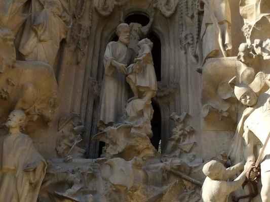 Uprostřed: Josef a Ježíš