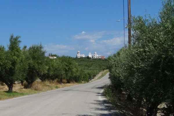 moderní klášter monastery Eleftheotria nedaleko vesnice Macherado