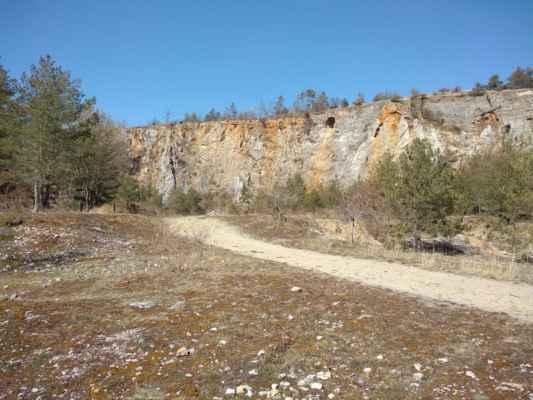 Houbův lom - Největší z lomů zaříznutých do jižního svahu Zlatého koně byl využíván k těžbě vápence. Jeho stěnou byly v roce 1950 objeveny Koněpruské jeskyně. Místy se v množství suti koněpruských vápenců vyskytují zkameněliny prvohorních živočichů.